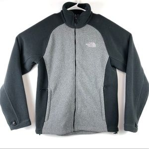 The North Face Fleece Full Zip Jacket Gray Sz S